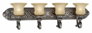 Vaxcel BG-VLD004PZ Bellagio Traditional Parisian Bronze Finish 8.63  Wide 4-Light Bathroom Vanity Lighting