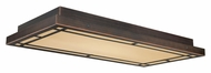 Vaxcel C0008 Oak Park Mission Sienna Bronze Finish 12  Wide Ceiling Light