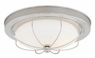 Vaxcel C0025 Marina Bay Polished Nickel Finish 12  Wide Ceiling Light Fixture