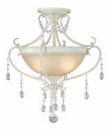 Vaxcel C0039 Bristol Antique Ivory Finish 17  Wide Flush Ceiling Light Fixture