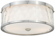 Vaxcel C0045 Vilo Modern Satin Nickel Finish 5  Tall Flush Mount Ceiling Light Fixture