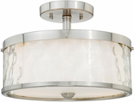 Vaxcel C0046 Vilo Contemporary Satin Nickel Finish 12  Wide Home Ceiling Lighting