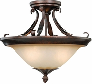 Vaxcel C0047 Coricelli Royal Bronze Finish 11.25  Tall Overhead Light Fixture