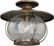 Vaxcel C0078 Jamestown Nautical Parisian Bronze Outdoor Flush Lighting