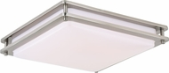 Vaxcel C0150 Horizon Modern Satin Nickel LED 16  Flush Mount Lighting