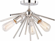 Vaxcel C0163 Estelle Contemporary Polished Nickel 17  Ceiling Lighting