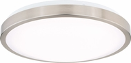 Vaxcel C0166 Aries Modern Satin Nickel LED Ceiling Lighting Fixture