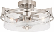Vaxcel C0170 Addison Modern Satin Nickel Overhead Lighting