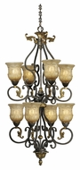 Vaxcel CA-CHU008WA Caesar Traditional Walnut Patina Finish 40.5  Tall Lighting Chandelier