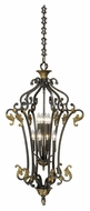 Vaxcel CA-PDU210WA Caesar Traditional Walnut Patina Finish 36  Tall Foyer Lighting Fixture