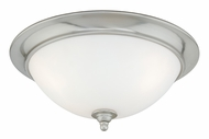 Vaxcel CC35913SN Mont Blanc Satin Nickel Finish 7  Tall Flush Mount Ceiling Light Fixture