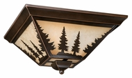 Vaxcel CC55514BBZ Yosemite Rustic Burnished Bronze Finish 14  Wide Flush Ceiling Light Fixture