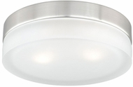 Vaxcel CC56809SN Loft Contemporary Satin Nickel Finish 9  Wide Halogen Ceiling Light Fixture