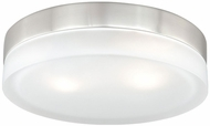 Vaxcel CC56811SN Loft Modern Satin Nickel Finish 3  Tall Halogen Flush Lighting