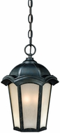 Vaxcel CE-ODU090GT Chloe Traditional Gold Stone Finish 14 Tall Exterior Mini Hanging Light Fixture