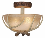 Vaxcel CF33016NS Lodge Rustic Noachian Stone Finish 16  Wide Overhead Lighting Fixture