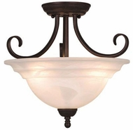 Vaxcel CF65353OBB Babylon Oil Burnished Bronze Finish 12.75  Tall Flush Mount Ceiling Light Fixture