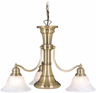 Vaxcel CH30304A Standford Vintage Antique Brass Finish 18 Tall Chandelier Light