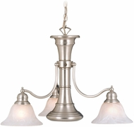 Vaxcel CH30304BN Standford Retro Brushed Nickel Finish 26 Wide Ceiling Chandelier