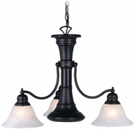 Vaxcel CH30304OBB Standford Vintage Oil Burnished Bronze Finish 18 Tall Hanging Chandelier