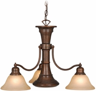 Vaxcel CH30304RBZ Standford Retro Royal Bronze Finish 26  Wide Chandelier Light