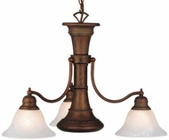 Vaxcel CH30304WP Standford Vintage Weathered Patina Finish 18  Tall Chandelier Lighting
