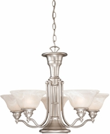 Vaxcel CH30306BN Standford Vintage Brushed Nickel Finish 17.5  Tall Chandelier Lamp