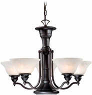 Vaxcel CH30306OBB Standford Retro Oil Burnished Bronze Finish 25  Wide Chandelier Light