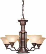 Vaxcel CH30306RBZ Standford Vintage Royal Bronze Finish 17.5  Tall Ceiling Chandelier
