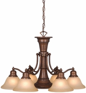 Vaxcel CH30307RBZ Standford Vintage Royal Bronze Finish 18  Tall Lighting Chandelier