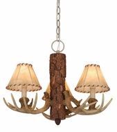 Vaxcel CH33003NS Lodge Rustic Noachian Stone Finish 19  Wide Mini Chandelier Lighting