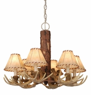 Vaxcel CH33006NS Lodge Country Noachian Stone Finish 18  Tall Mini Lighting Chandelier