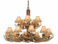 Vaxcel CH33015NS Lodge Country Noachian Stone Finish 28 Tall Chandelier Light
