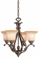 Vaxcel CH35404A-C Monrovia Antique Brass Mini Chandelier Lamp