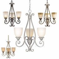 Vaxcel CH35903 Mont Blanc 21  Wide Mini Ceiling Chandelier