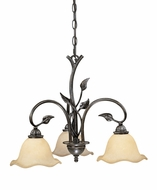 Vaxcel CH38803OL Vine Rustic Oil Shale Finish 22  Wide Mini Hanging Chandelier