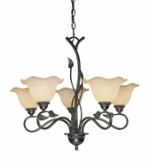 Vaxcel CH38855OL Vine Country Oil Shale Finish 22  Tall Lighting Chandelier