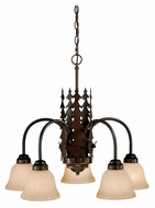 Vaxcel CH55405BBZ Bryce Rustic Burnished Bronze Finish 22.5  Tall Chandelier Lighting