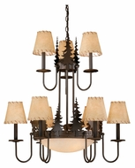 Vaxcel CH55409BBZ Bryce Rustic Burnished Bronze Finish 31 Tall Chandelier Lamp