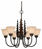 Vaxcel CH55456BBZ Bryce Rustic Burnished Bronze Finish 25  Tall Ceiling Chandelier