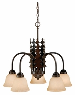 Vaxcel CH55505BBZ Yosemite Rustic Burnished Bronze Finish 22.5  Tall Chandelier Light
