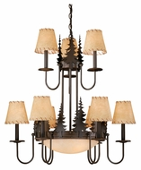 Vaxcel CH55509BBZ Yosemite Rustic Burnished Bronze Finish 31  Tall Lighting Chandelier