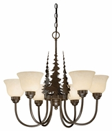 Vaxcel CH55656BBZ Yellowstone Country Burnished Bronze Finish 27.5  Wide Lighting Chandelier