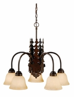 Vaxcel CH55705BBZ Bozeman Rustic Burnished Bronze Finish 22.5  Tall Chandelier Lamp