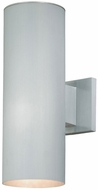 Vaxcel CO-OWB052SL Chiasso Modern Satin Aluminum Finish 14.25 Tall Outdoor Wall Mounted Lamp