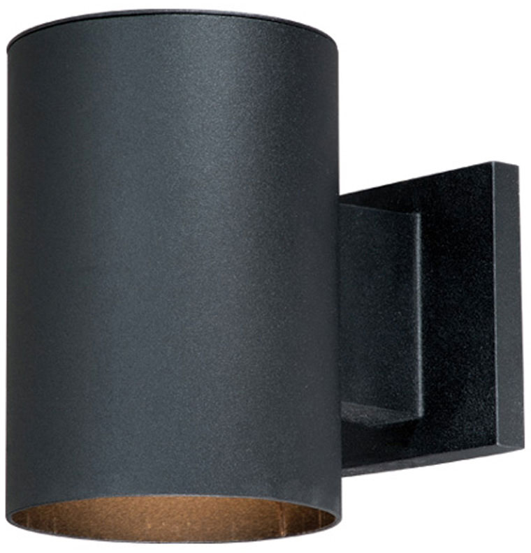 Vaxcel CO OWD050TB Chiasso Modern Textured Black Finish 7.25u0026nbsp; Tall  Outdoor Wall Sconce Light. Loading Zoom