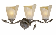 Vaxcel CP-VLU003BW Capri Rustic Black Walnut Finish 10.25  Tall 3-Light Bathroom Lighting Fixture