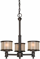 Vaxcel CR-CHU003NB Carlisle Noble Bronze Finish 21  Tall Mini Chandelier Lamp