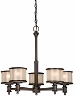 Vaxcel CR-CHU005NB Carlisle Noble Bronze Finish 24  Wide Chandelier Light