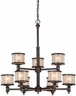 Vaxcel CR-CHU009NB Carlisle Noble Bronze Finish 31.625  Tall Ceiling Chandelier
